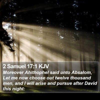 2 Samuel 17:1 KJV Bible Verse Image