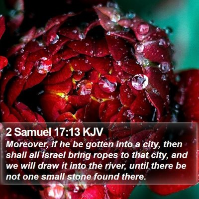 2 Samuel 17:13 KJV Bible Verse Image