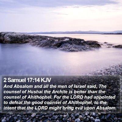 2 Samuel 17:14 KJV Bible Verse Image