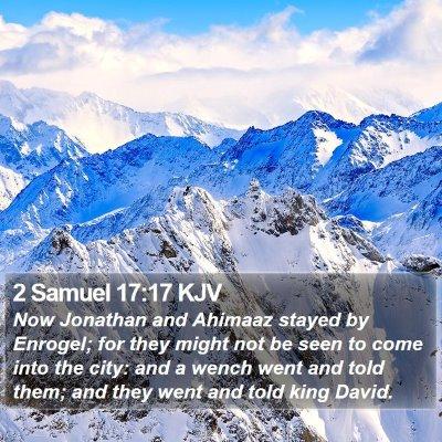 2 Samuel 17:17 KJV Bible Verse Image