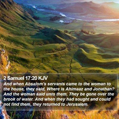 2 Samuel 17:20 KJV Bible Verse Image