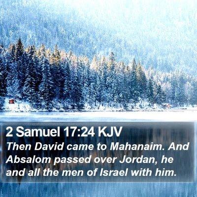 2 Samuel 17:24 KJV Bible Verse Image