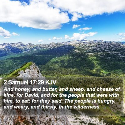 2 Samuel 17:29 KJV Bible Verse Image