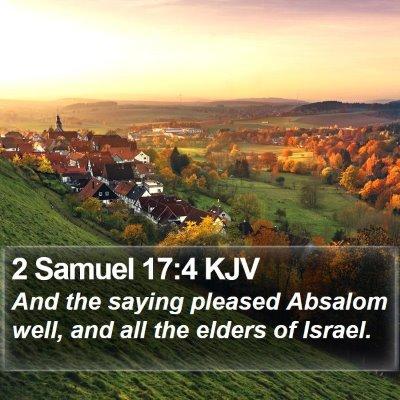 2 Samuel 17:4 KJV Bible Verse Image