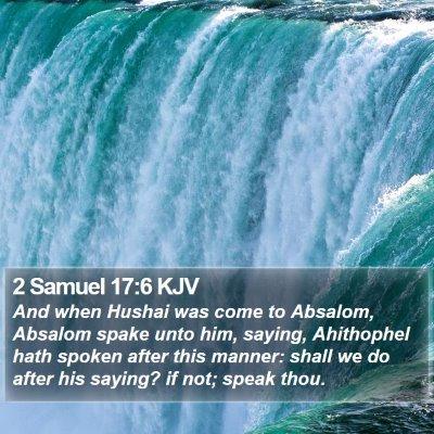2 Samuel 17:6 KJV Bible Verse Image
