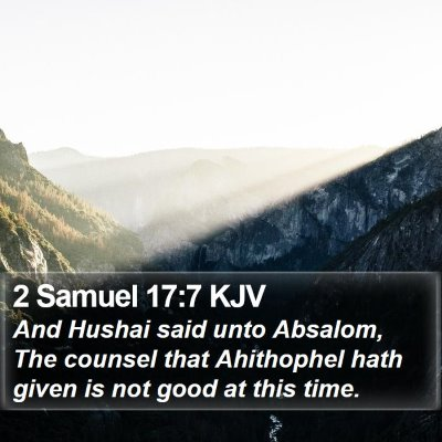2 Samuel 17:7 KJV Bible Verse Image