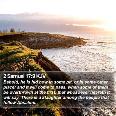 2 Samuel 17:9 KJV Bible Verse Image
