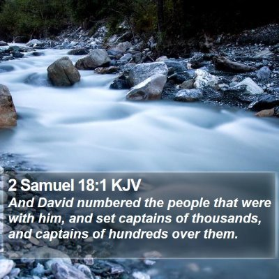 2 Samuel 18:1 KJV Bible Verse Image
