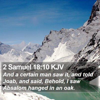 2 Samuel 18:10 KJV Bible Verse Image
