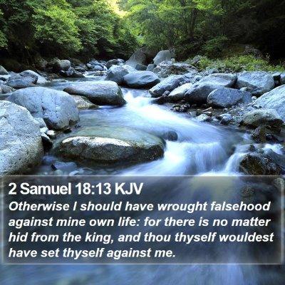 2 Samuel 18:13 KJV Bible Verse Image