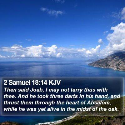2 Samuel 18:14 KJV Bible Verse Image
