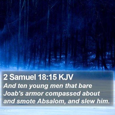 2 Samuel 18:15 KJV Bible Verse Image