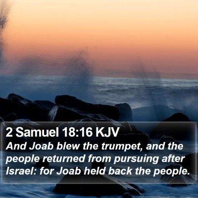 2 Samuel 18:16 KJV Bible Verse Image