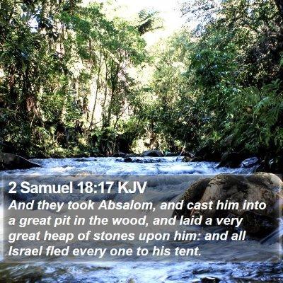 2 Samuel 18:17 KJV Bible Verse Image