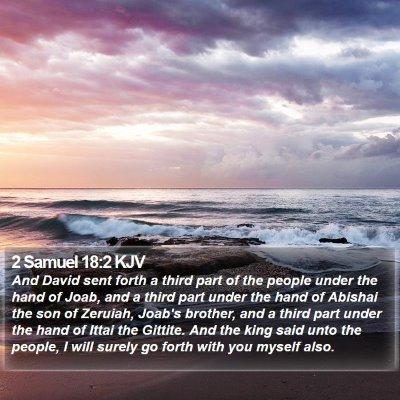 2 Samuel 18:2 KJV Bible Verse Image