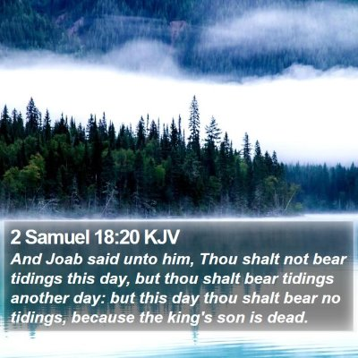 2 Samuel 18:20 KJV Bible Verse Image
