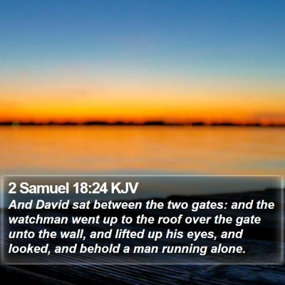 2 Samuel 18:24 KJV Bible Verse Image