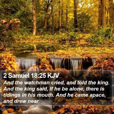 2 Samuel 18:25 KJV Bible Verse Image