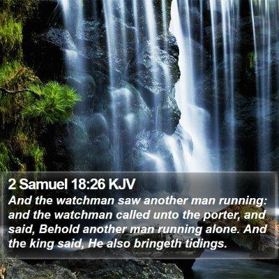 2 Samuel 18:26 KJV Bible Verse Image