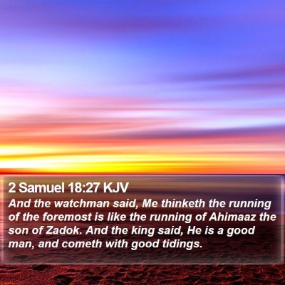2 Samuel 18:27 KJV Bible Verse Image