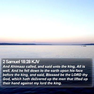 2 Samuel 18:28 KJV Bible Verse Image