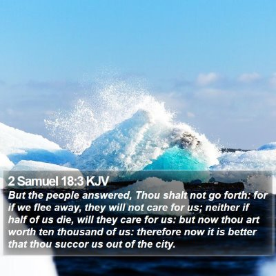2 Samuel 18:3 KJV Bible Verse Image