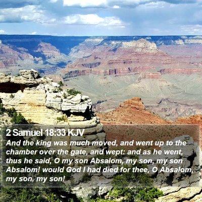 2 Samuel 18:33 KJV Bible Verse Image