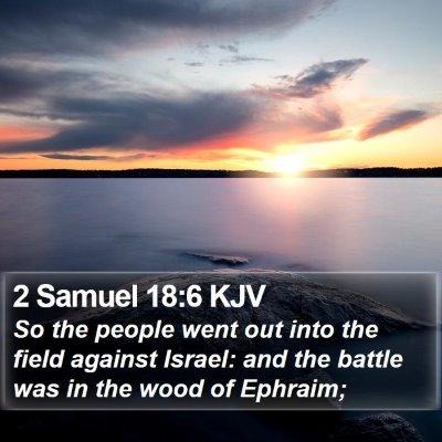 2 Samuel 18:6 KJV Bible Verse Image