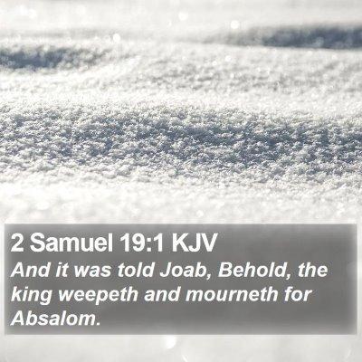 2 Samuel 19:1 KJV Bible Verse Image