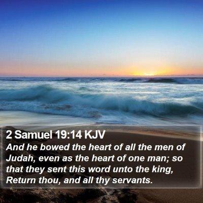 2 Samuel 19:14 KJV Bible Verse Image