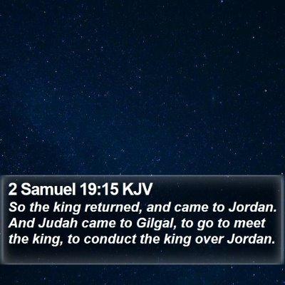 2 Samuel 19:15 KJV Bible Verse Image