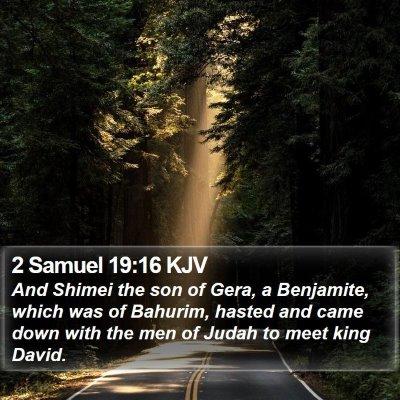 2 Samuel 19:16 KJV Bible Verse Image