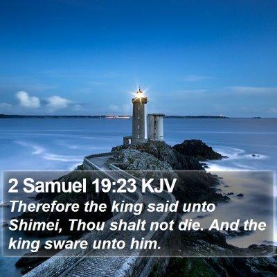 2 Samuel 19:23 KJV Bible Verse Image