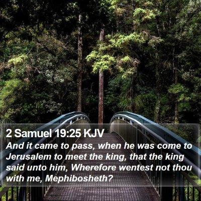 2 Samuel 19:25 KJV Bible Verse Image