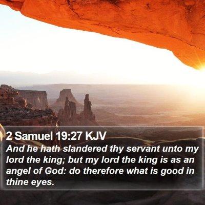 2 Samuel 19:27 KJV Bible Verse Image