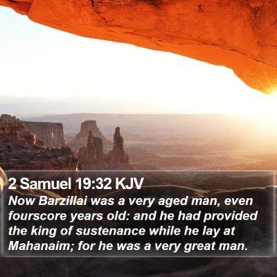 2 Samuel 19:32 KJV Bible Verse Image