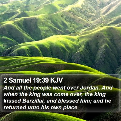 2 Samuel 19:39 KJV Bible Verse Image