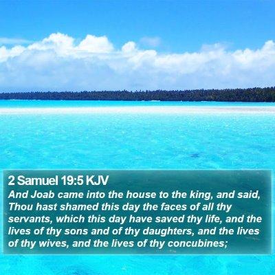 2 Samuel 19:5 KJV Bible Verse Image