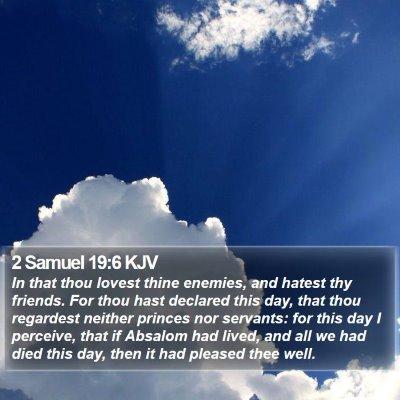 2 Samuel 19:6 KJV Bible Verse Image