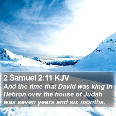 2 Samuel 2:11 KJV Bible Verse Image