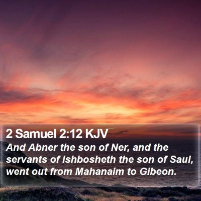 2 Samuel 2:12 KJV Bible Verse Image