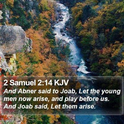 2 Samuel 2:14 KJV Bible Verse Image