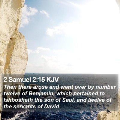 2 Samuel 2:15 KJV Bible Verse Image
