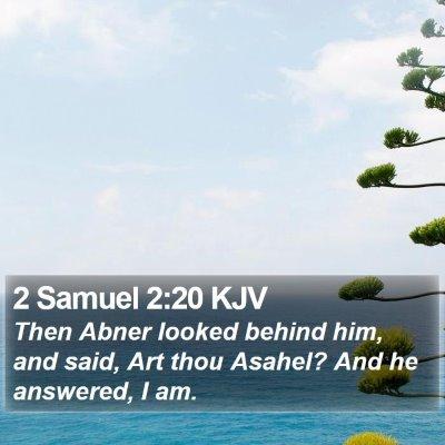 2 Samuel 2:20 KJV Bible Verse Image