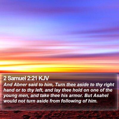 2 Samuel 2:21 KJV Bible Verse Image