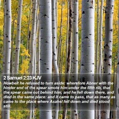 2 Samuel 2:23 KJV Bible Verse Image
