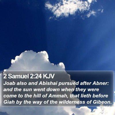 2 Samuel 2:24 KJV Bible Verse Image