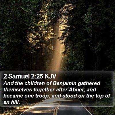 2 Samuel 2:25 KJV Bible Verse Image