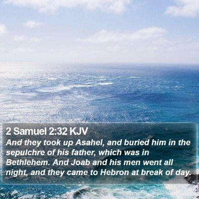 2 Samuel 2:32 KJV Bible Verse Image