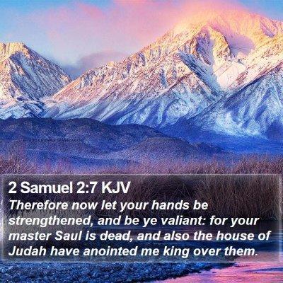 2 Samuel 2:7 KJV Bible Verse Image